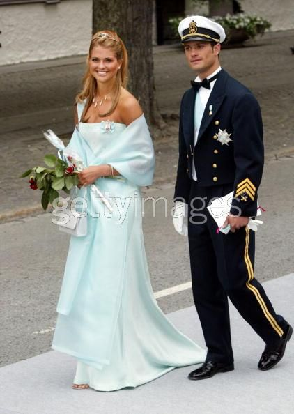 Princess Madeleine wore this tiara to Princess Martha Louise of Norway's wedding on May 24, 2002.