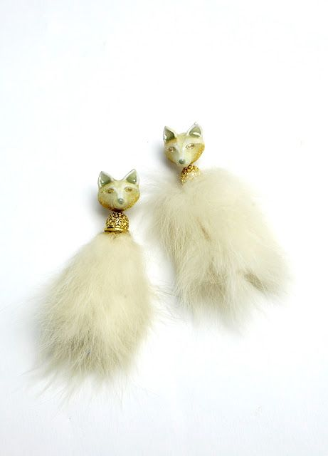 77th: Ceramix Fox Earrings