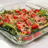 Салат с авокадо семгой и помидорами | Рецепт | Еда, Салаты ...