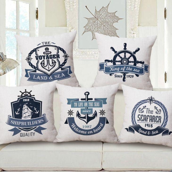 Cojines náuticos decoración marinera. Disponibles en