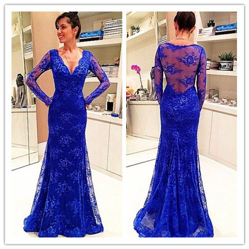 illusion neck a-line/princess sweep | lace, prom dresses and red