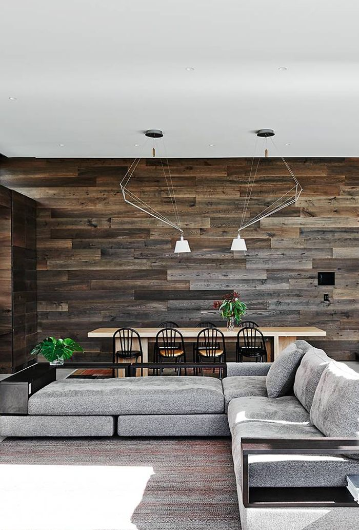 Living Room Feature Wall Design: An Amazing Feature Wall Constructed With Timber Boards
