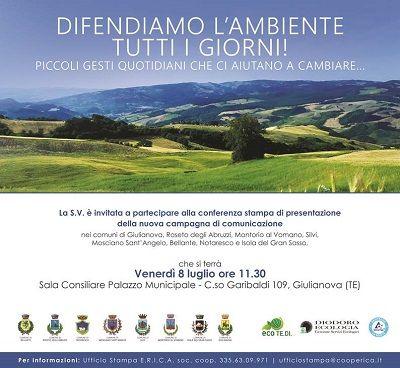 Difendiamo lAmbiente tutti i giorni! presentazione della campagna a Giulianova