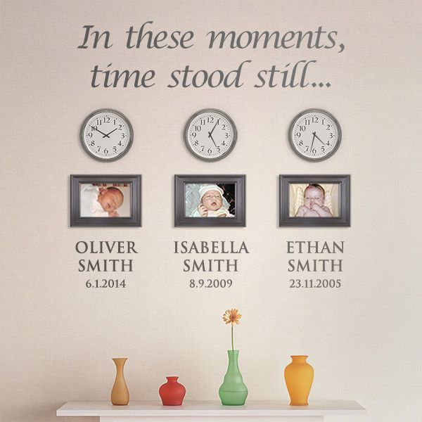 U0027In These Moments, Time Stood Stillu0027 Personalised Childrens Photo Wall  Sticker: Part 94