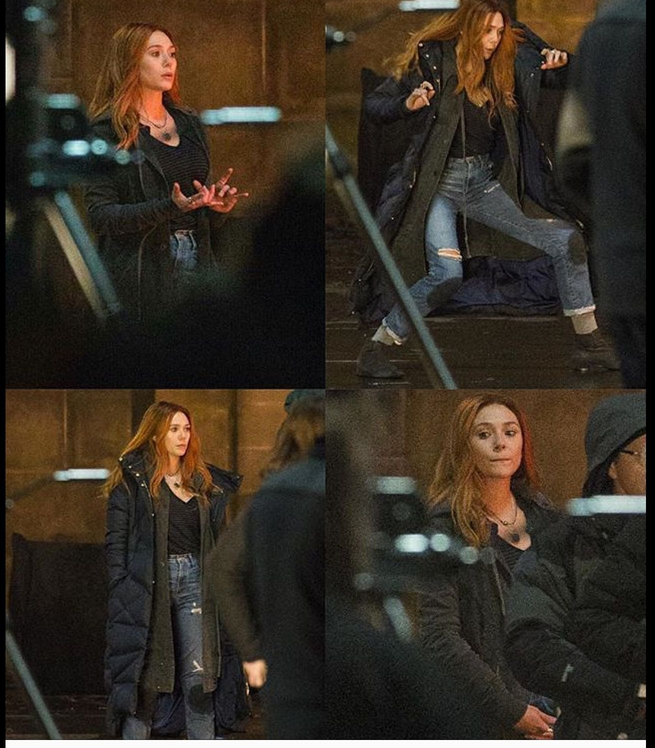 New Images Of Elizabeth Olsen Scarlet Witch On The Set Of Avengers Infinity War Scarlet Witch Elizabeth Olsen Scarlet Witch
