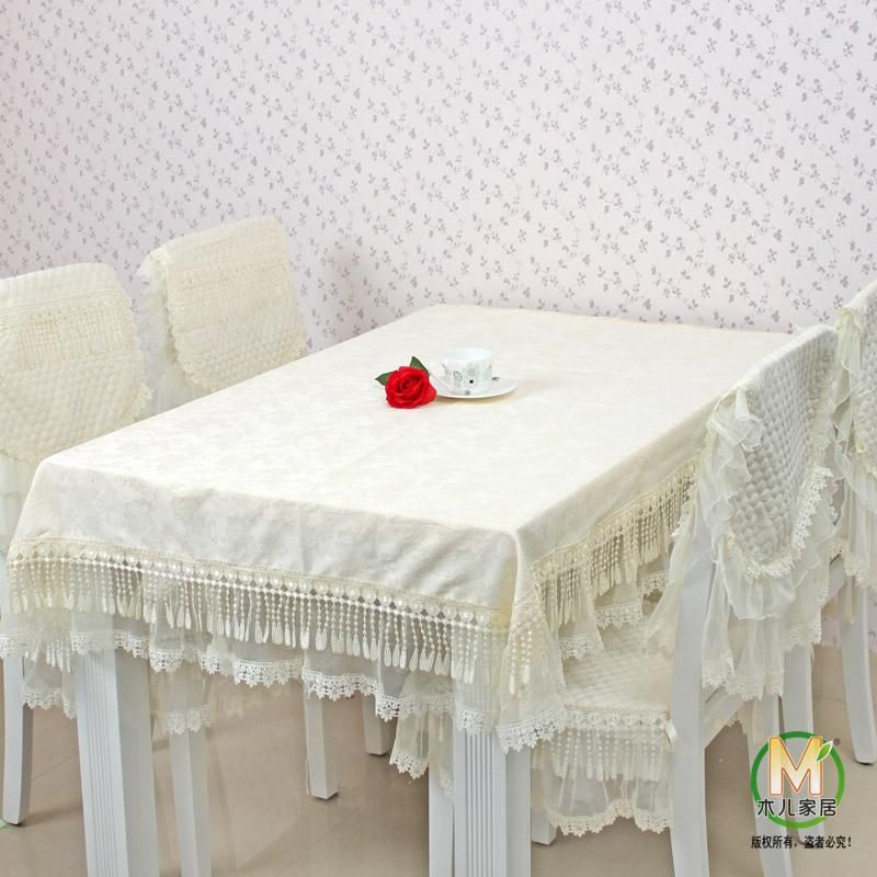 Quality Dining Table Cloth Tablecloth Round Chair Cover Set Covers Fashion Lace Fabric