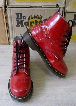 b0c7d6b6350 Disponibles ☠ Dr Martens 8175 produit original authentique Made In England  ! cuir vernis Rouge UK5 ou Pointure 38  dandygirl65