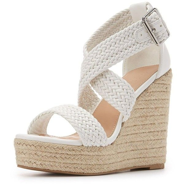 03d3cd5d92a Charlotte Russe Braided Espadrille Wedge Sandals ( 36) ❤ liked on Polyvore  featuring shoes