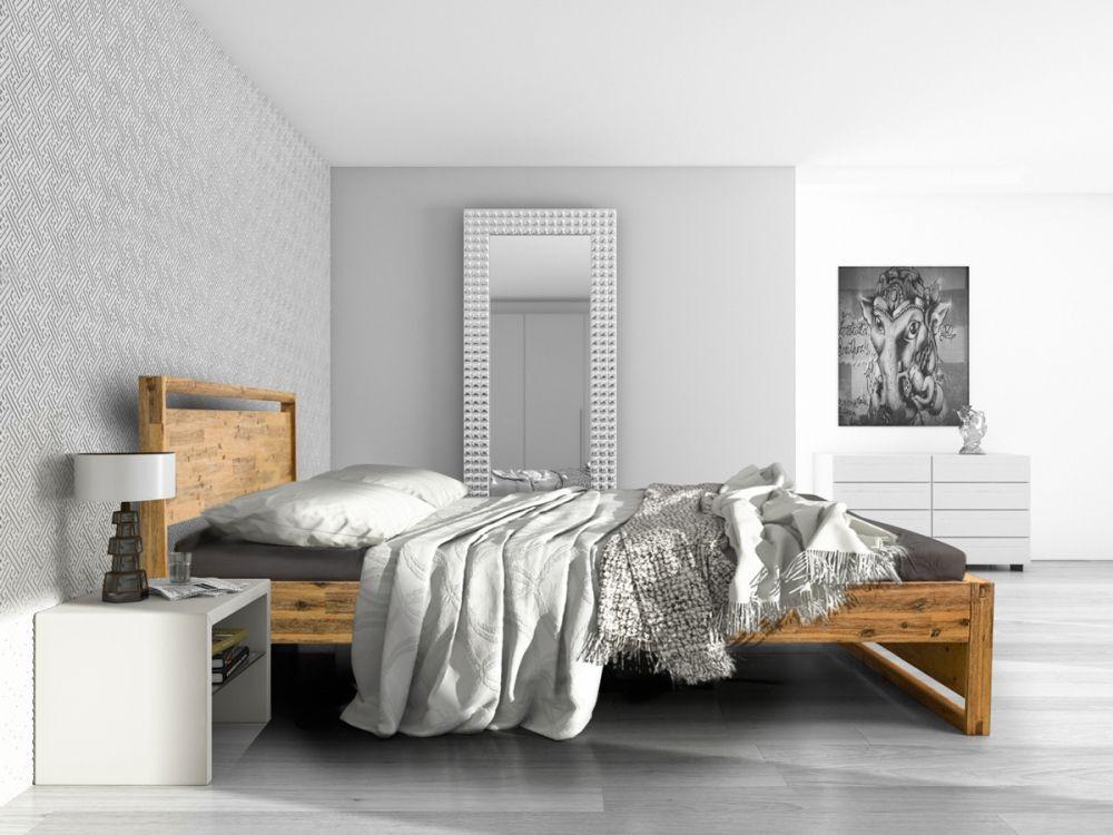 BONNIE Komfortbett 180x200 cm Akazie brushed Schlafzimmer Pinterest
