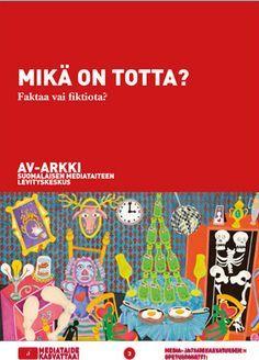 Faktaa vai fiktiota? Mikä on totta? -opetuspaketti koostuu kirjallisesta opetusmateriaalista sekä av-arkki.fi/edu -palvelussa katsottavista videoista, perustuu kotimaisten eturivin mediataiteilijoiden teoksiin. HUOM Ppetusmateriaalit ovat vapaasti käytettävissä suomalaisissa alakouluissa ja muussa lapsille ja nuorille suunnatussa taide- ja mediakasvatuksessa. Käyttöoikeus ainoastaan käyttäjäksi REKISTERÖITYNEET opettajat. Opetuksen tulee olla lapsille ja heidän vanhemmilleen ilmaista.