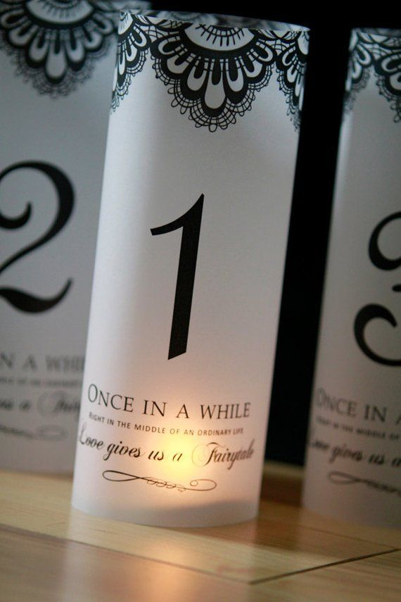 Once Upon A Time Table Numbers Lace Fairytale Luminaries