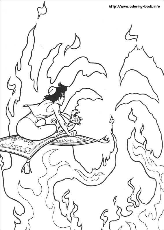 Aladdin coloring picture | Раскраски, Жасмин