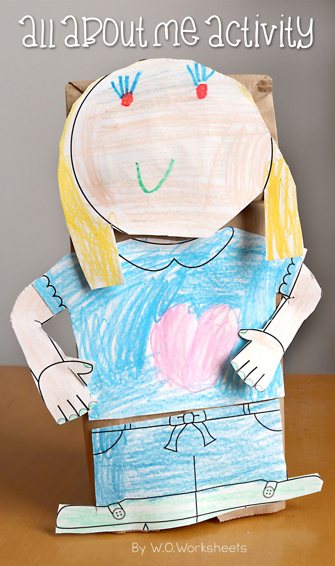 Back To School Activity All About Me Bag Craft Star