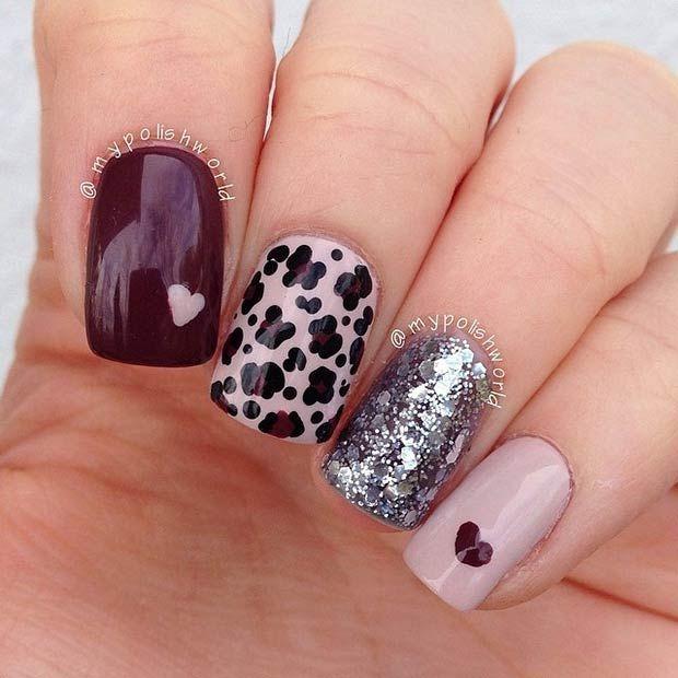 Cute Cheetah Nail Design Uas Pinterest Cheetah Nail Designs