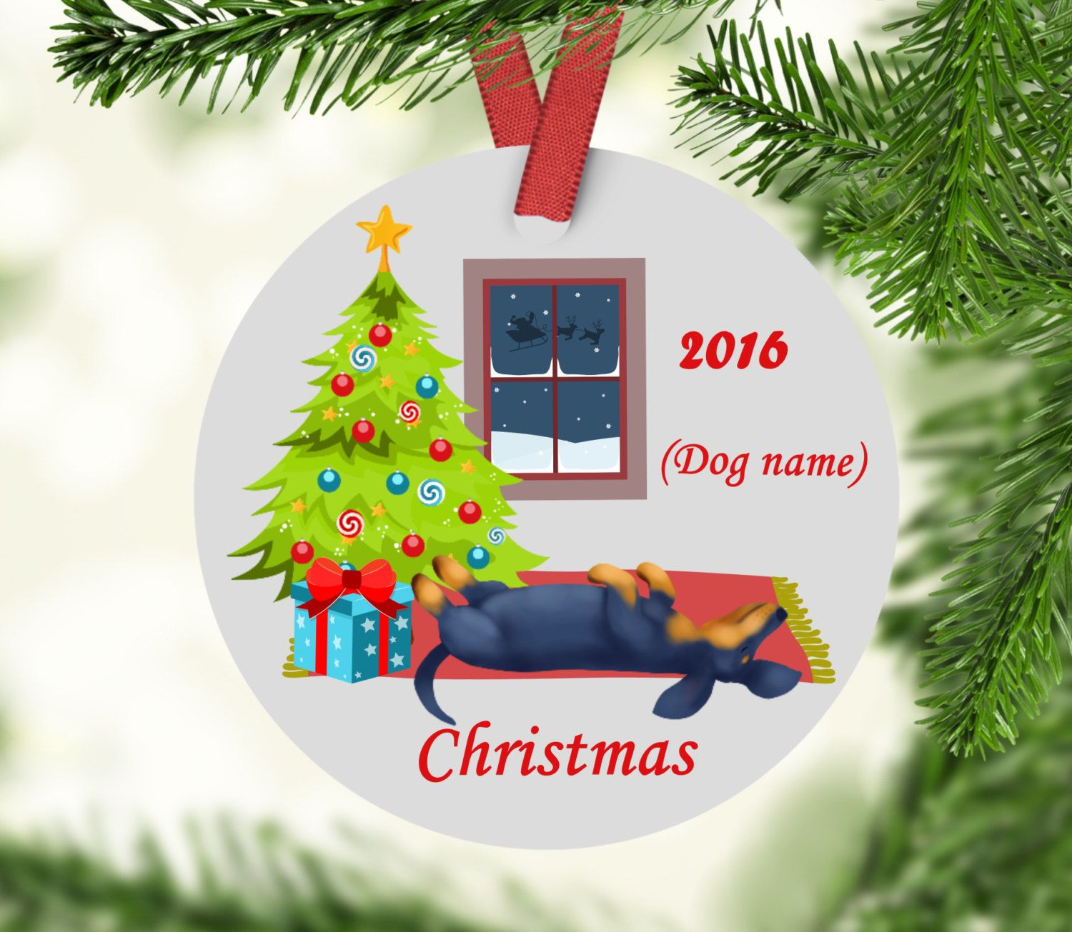Custom first christmas ornament - Personalized Dachshund Christmas Ornament Dachshunds Custom Dachshund Ornament Dachshunds First Christmas Dachshund