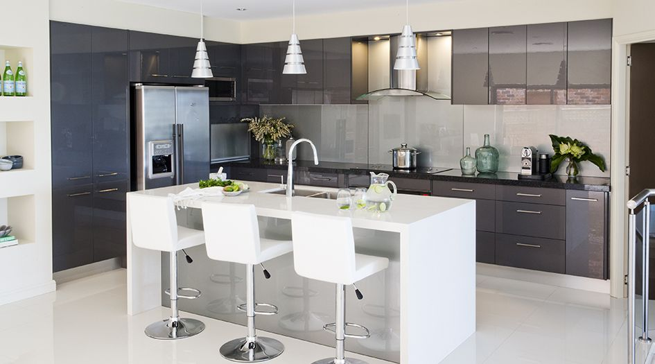 Kitchen Island Bench change the back cabinets to grey and place a white/grey island