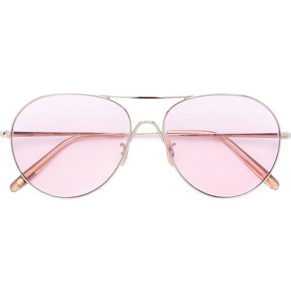 75b907e388c Oliver Peoples Rockmore Aviator Sunglasses ( 455) ❤ liked on Polyvore  featuring accessories