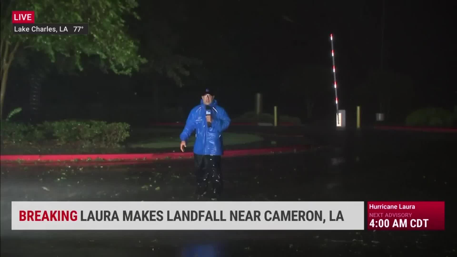 Watch Hurricane Laura Roar Ashore In Louisiana Videos From The Weather Channel Weather Com The Weather Channel Hurricane Weather News