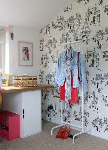 London, Paris, New York\' wallpaper   Bedroom Ideas   Pinterest ...