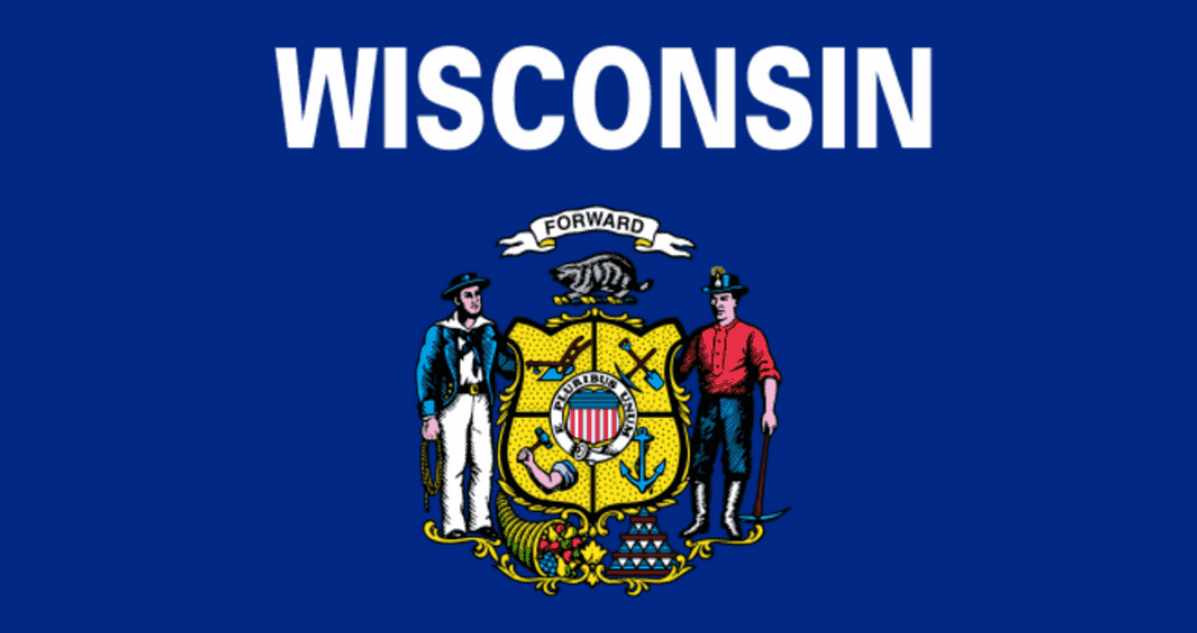 Wisconsin 30th State. May 29, 1.848 Wisconsin flag