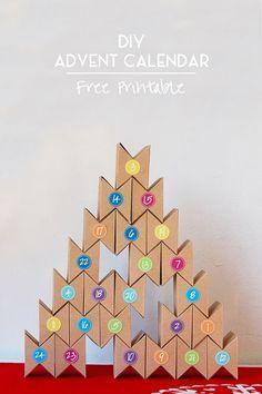 DIY Advent Calendar (Free Printable!)