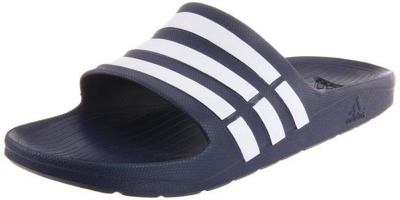 adidas Duramo Slide Sandal,New Navy/White/New Navy,10 M US