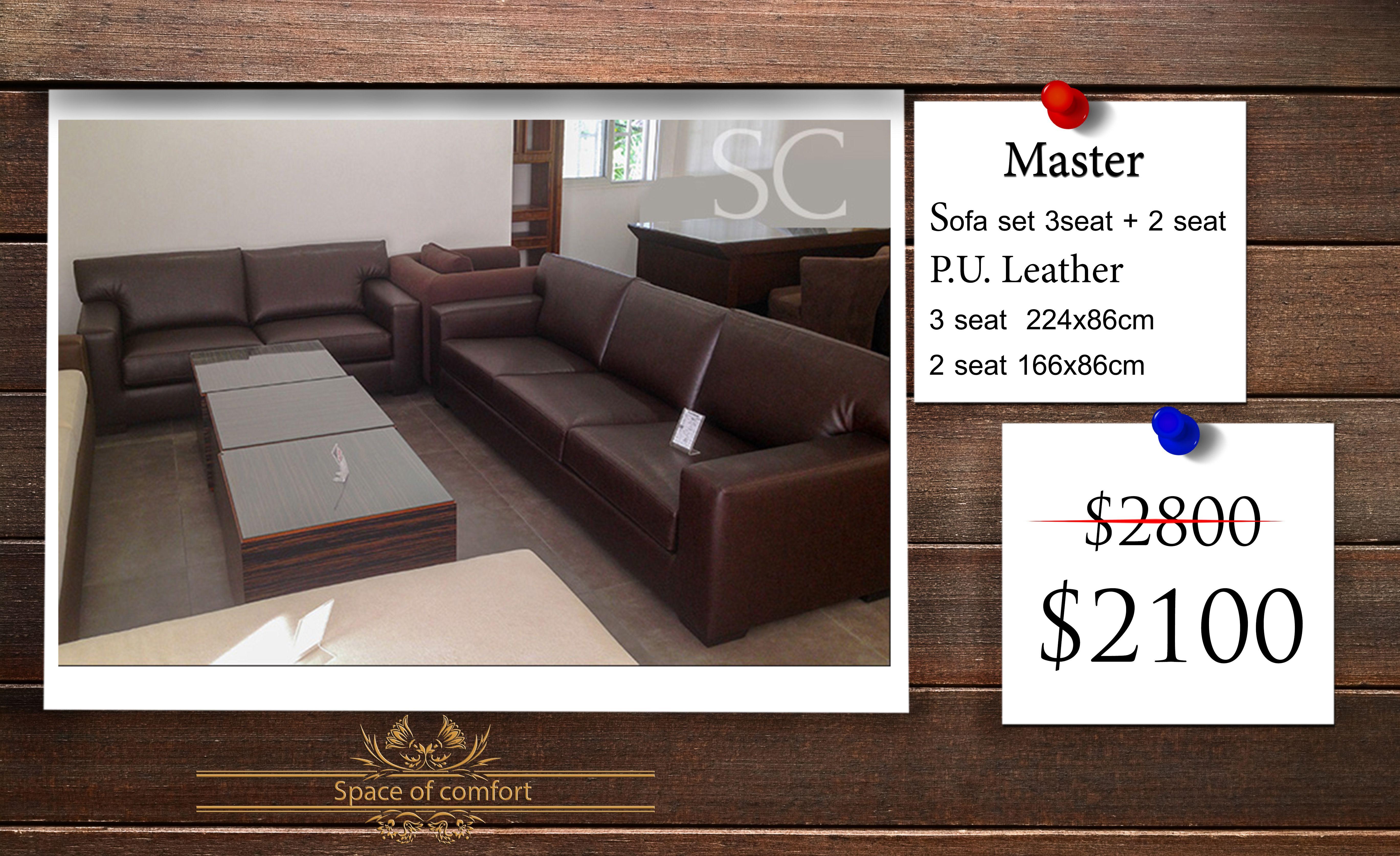 """MODEL """"Master"""" FURNITURE TYPE Sofa SET 3 seat 2 seat"""