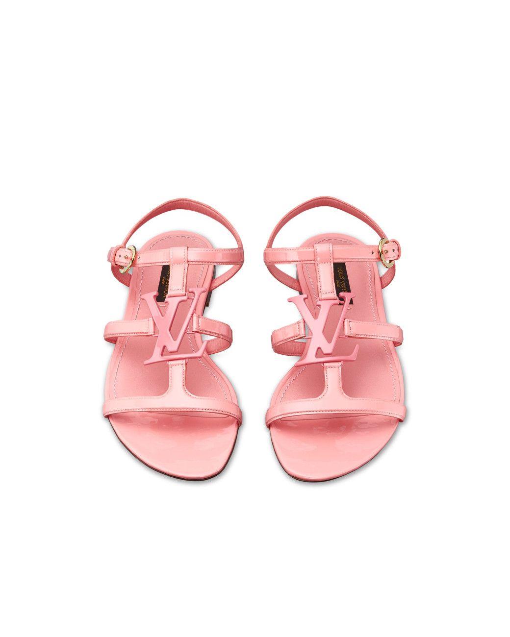 2e2ece7bac0a Louis Vuitton Women s Pink Paradiso Sandal ..... This eye-catching flat