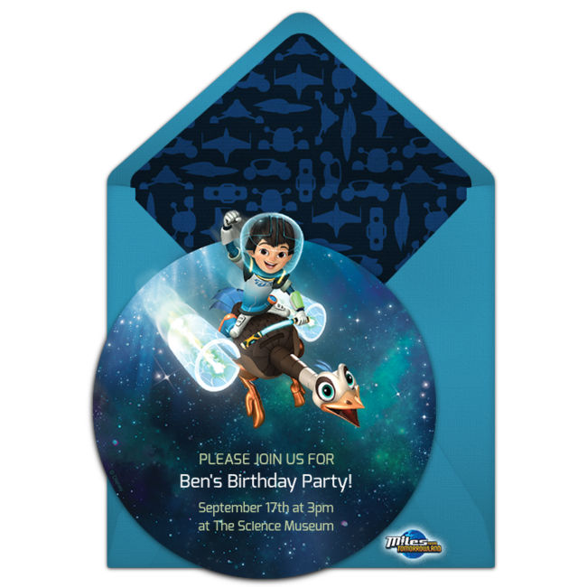 Free miles from tomorrowland invitations birthdays birthday birthday party themes stopboris Gallery