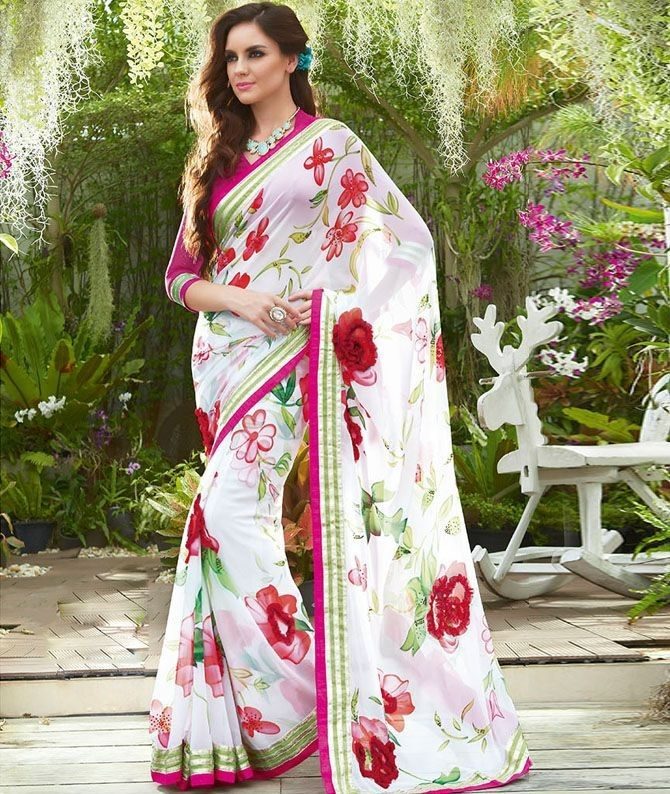Wedding White Sarees Online: Saree Wedding, Indian Sarees