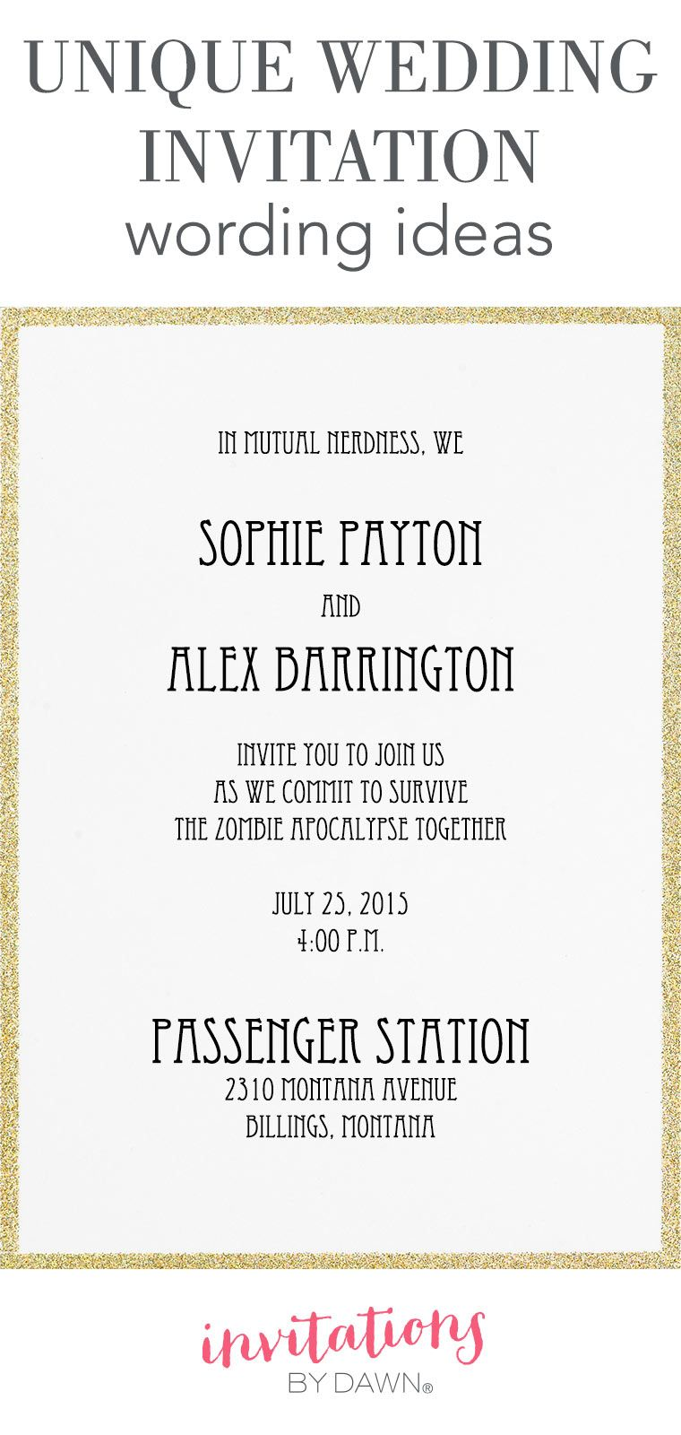 wedding invitation language a wedding is a special occasion that
