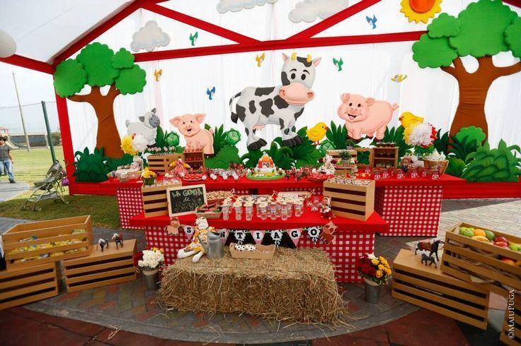 Fiesta De Granja Para Ninas Buscar Con Google Fiesta De Granja Decoraciones De Fiesta De Granja Cumpleanos De Granja Decoracion