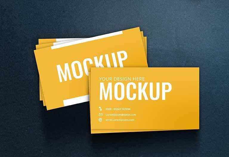 موك اب كارت شخصي Psd مكتبة الفوتوشوب In 2020 Business Card Mock Up Business Card Template Psd Business Card Psd