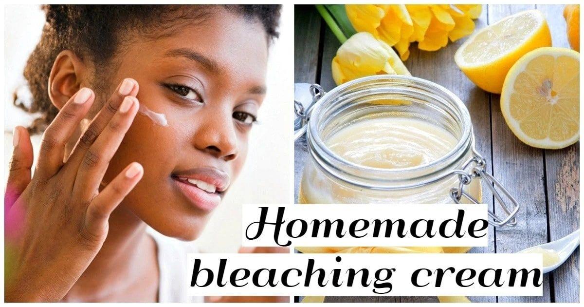 Learn how to make homemade BLEACHING CREAM for black skin