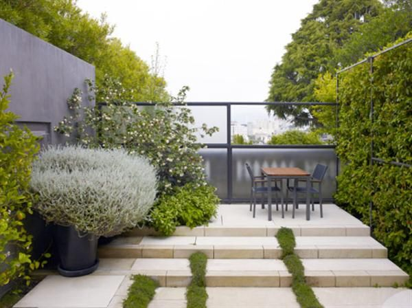 The Modern Landscape With Simple Furniture Interior Design Home Decorating Rooms Planning A Urban Garden Design Modern Landscape Design Modern Landscaping