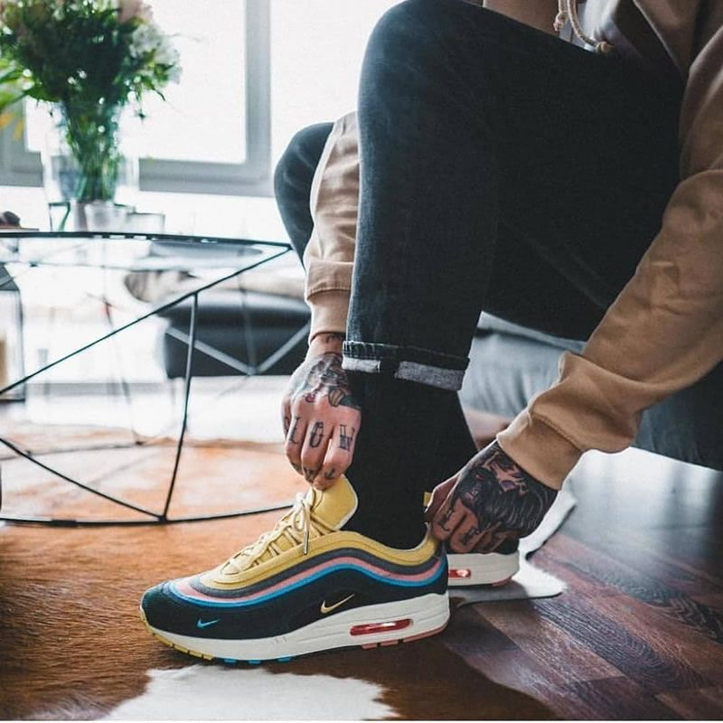 Sean Wotherspoon Air Max 97 Shoes On Feet