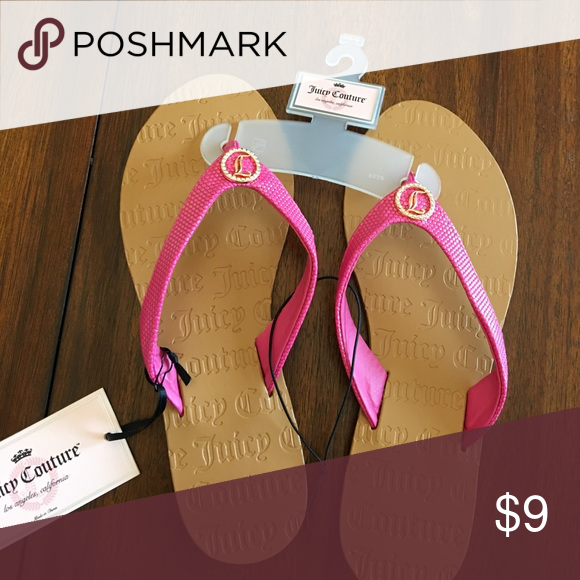 Juicy Couture Pink/Brown Flip Flops Size S 5-6 NWT Size small 5-6 Juicy Couture Shoes Sandals