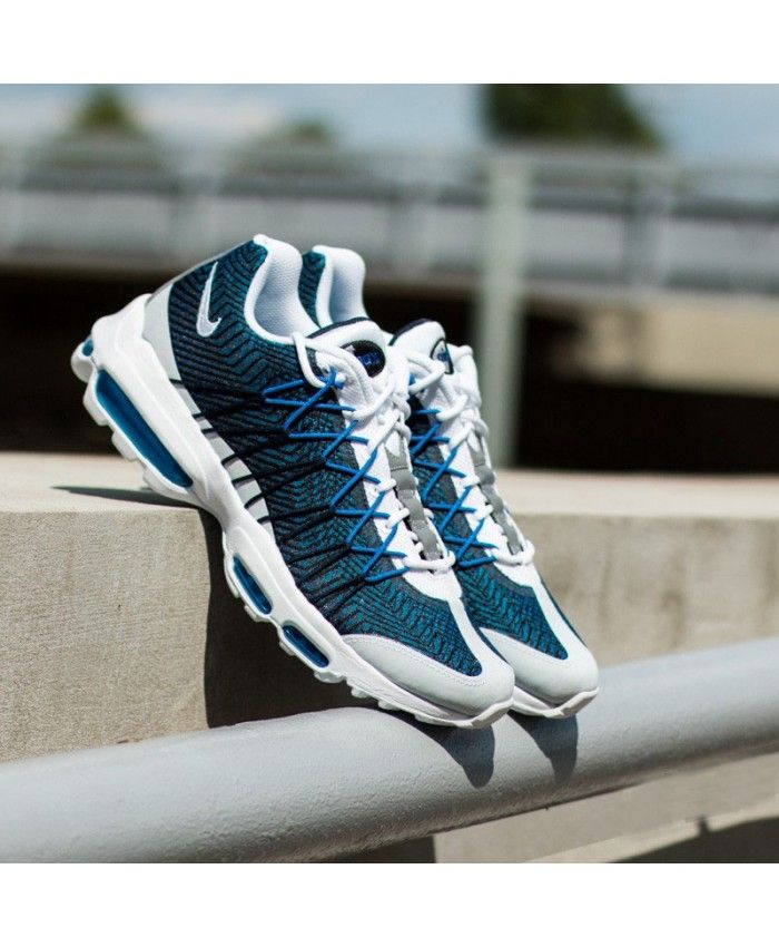 best website db8f7 16bcd Nike Air Max 95 Ultra Jacquard Midnight Navy White Gym Royal Trainer ...
