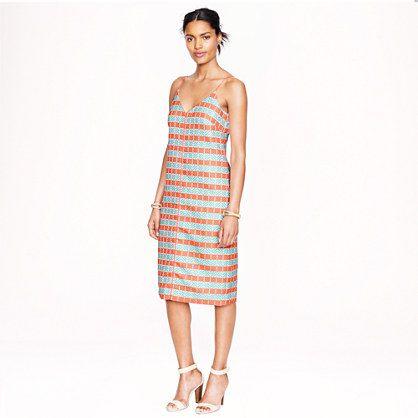 J.Crew - Collection diamond stripe shift dress