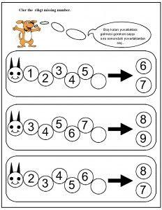missing number worksheet for kids (7) | Rovarok, lepkék/Bugs ...