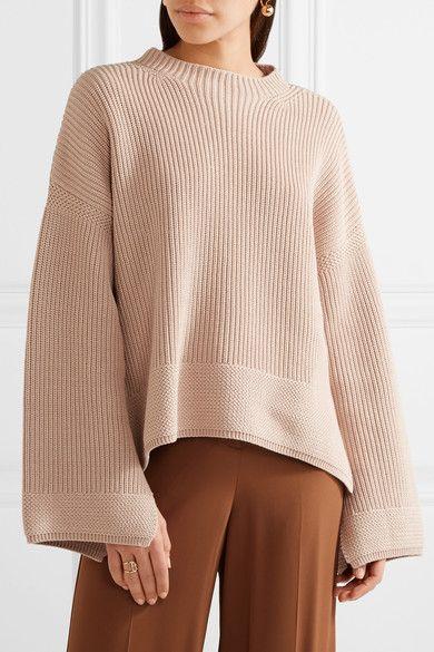 Elizabeth And James Woman Aimee Cotton-blend Sweater Beige Size L Elizabeth & James Clearance Brand New Unisex KBYRMImK