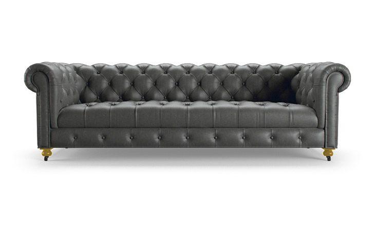 Theo Leather Sofa I Want Pinterest Leather Sofa Sofa And Grey
