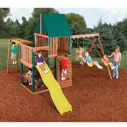 Chesapeake Complete Wood Swing Set Kit Overstock Com Shopping