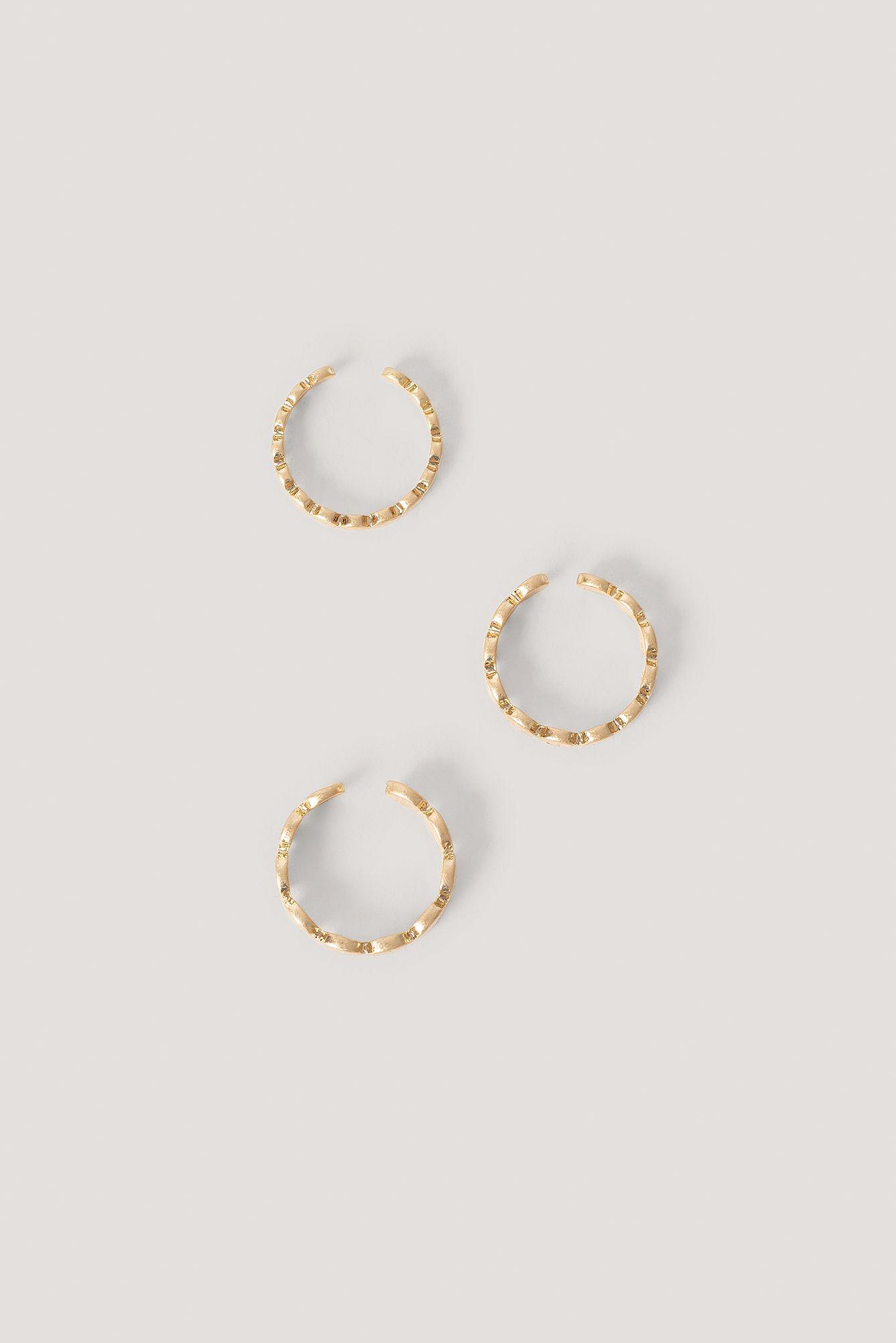 3Er-Pack Ringe Gold