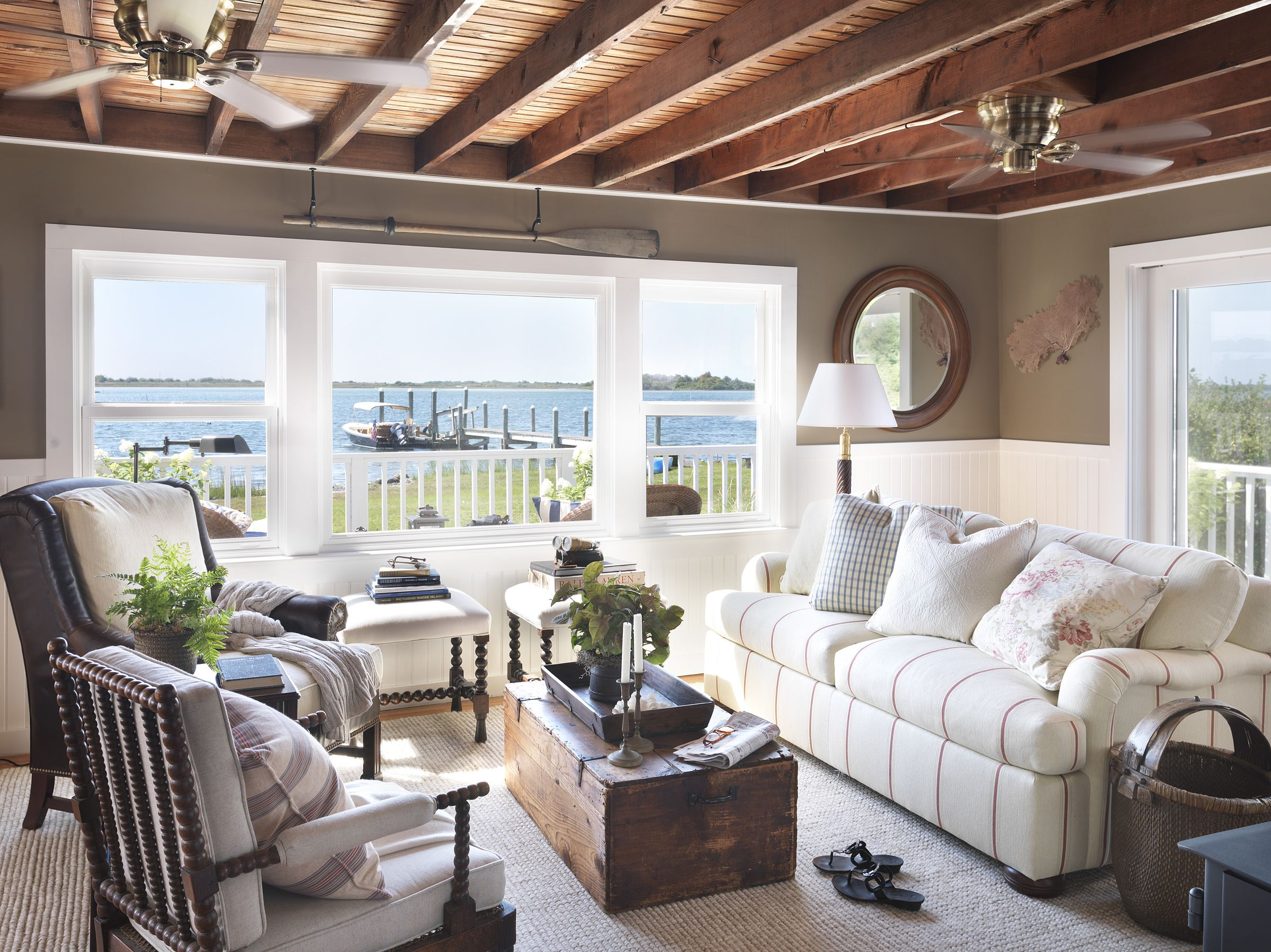 Nautical decor cozy cottage with Ralph Lauren and consignment store