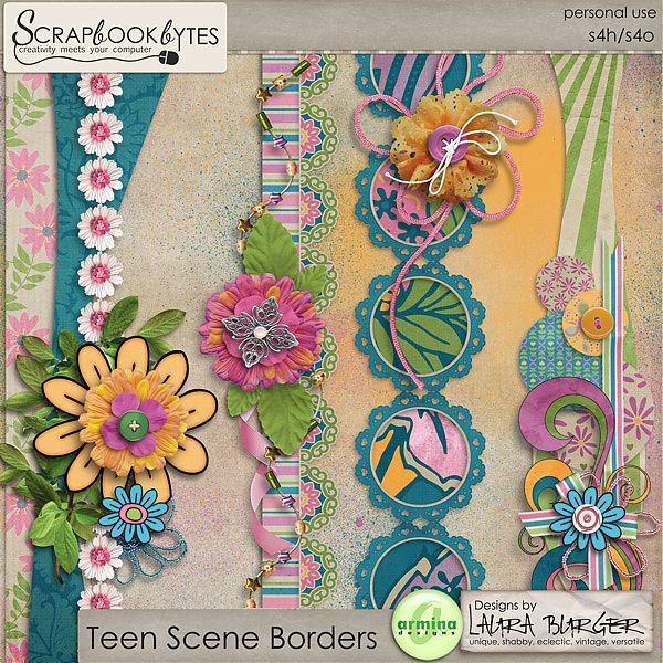 Teen Scene Border Collaboration with Armina :: Kit Element Bits :: Kits & Bits :: SCRAPBOOK-BYTES