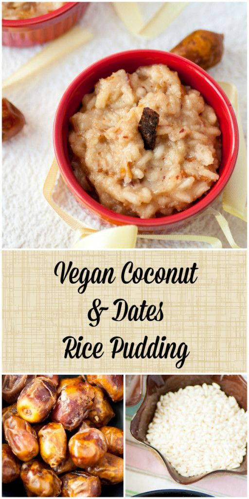 Date & Coconut Rice Pudding - And Cakes Too | Coconut rice ...