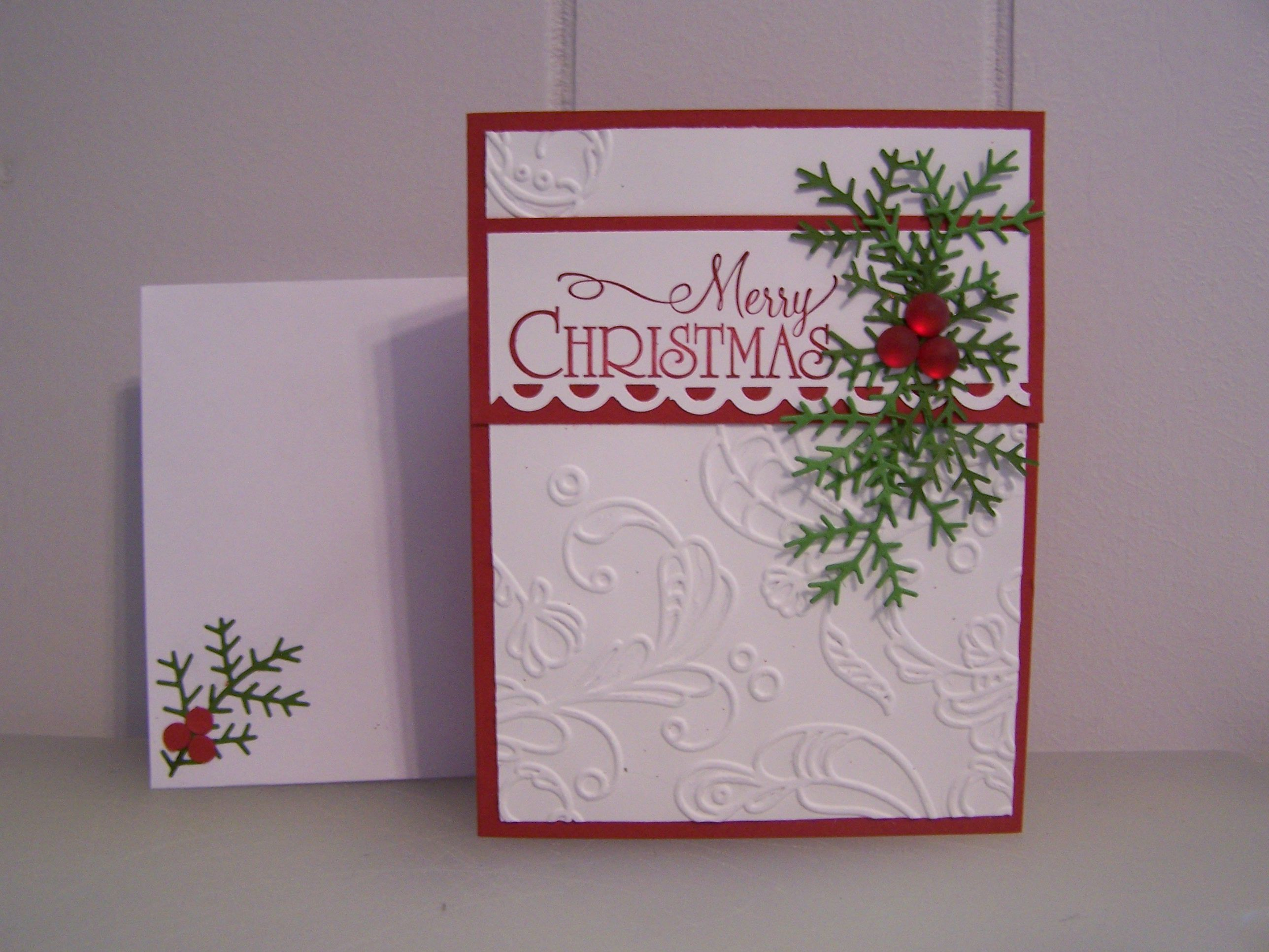 Simple embossed Merry Christmas Card | Christmas Cards I have made ...