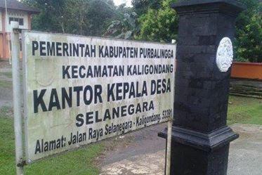 Asal Usul Desa Selanegara Kaligondang Purbalingga Bahasa Belanda Sejarah Pemerintah