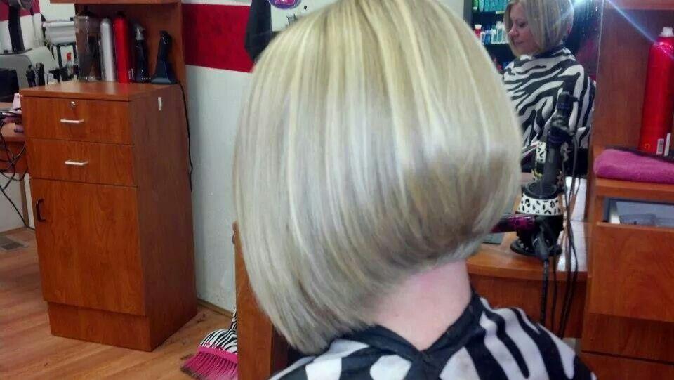 Angled Bob Haircut Blonde Hi Lights Salon Dolce Franklin Pa Hair